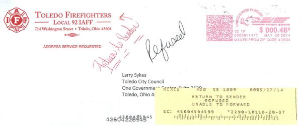 Return To Sender Sykes Refuses Local 92 Letter