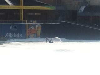 Snowblower at fifth third field