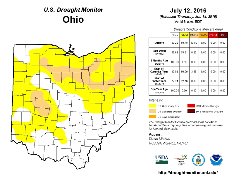 US Drought Monitor Ohio JPEG
