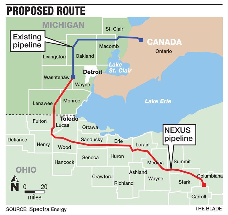 NEXUS pipeline route map