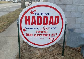 Haddad's Re-Elect Sign